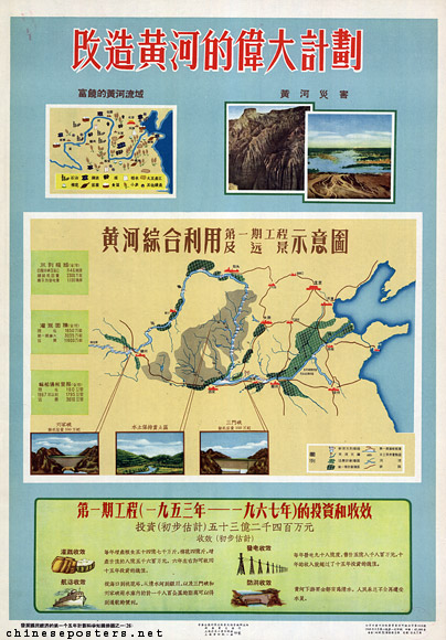 Great plans to transform the Yellow river, 1956