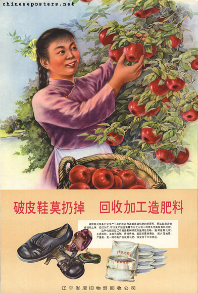 Don't throw away broken leather shoes, recycle them to turn them into fertilizer, Early 1960s