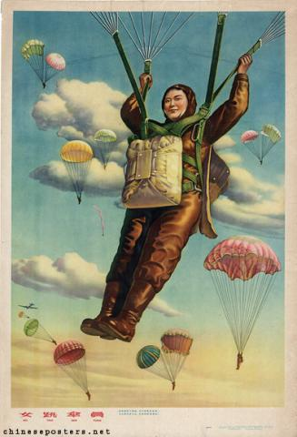 Women parachuters