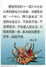 We must adhere to the Party's policy adopted at the Third Plenum of the Eleventh Central Committee... - Deng Xiaoping
